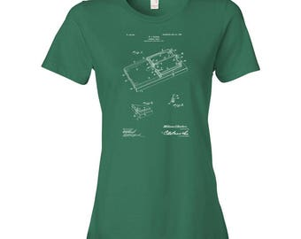 Mouse Trap Patent Art Womens T-Shirt, Mouse Trap Shirt, Rat Trap, Pest Control, Animal Control, Gift, Patent T-shirt, Patent Print