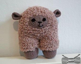 Crochet Superfluffy sparkling Sheep Amigurumi - ready to ship