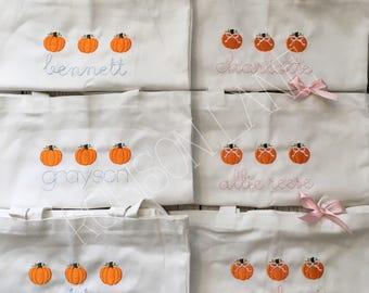 Pumpkin Trio Trick or Treat Bags