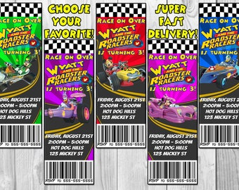 Mickey and the Roadster Racers Birthday Party Invitation, Roadster Racers Invite, Printable