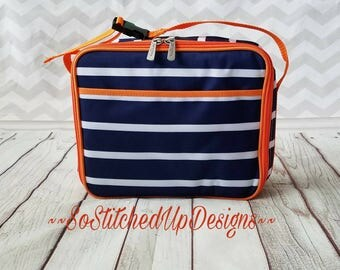 Kids monogrammed Lunchboxes, Boys Lunch boxes, Lunch bag,  Back-To-School!, Personalized lunch box, Matching Backpacks available