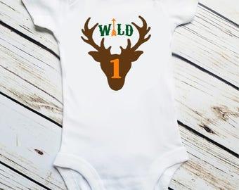 Wild One, First Birthday, First Birthday Boy,  Wild One Deer Arrow, Wild One Birthday, Deer Birthday, One, Smash Cake, Birthday Outfit, Two