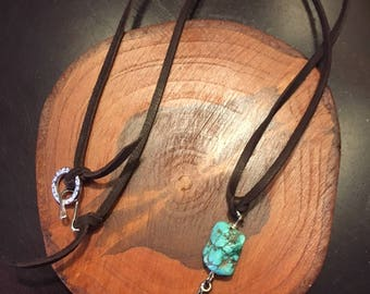 Turquoise Ginkgo Necklace