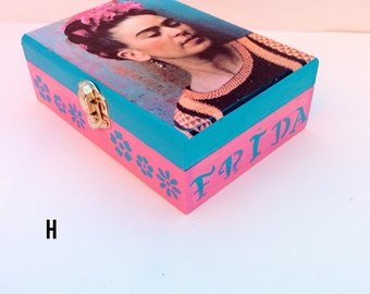 Frida kahlo jewelry box, Jewelry storage, Gifts for girlfriend, Unique gifts, Jewelry organizer, Keepsake box, Frida Kahlo, Gifts for wife,