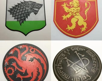 3D Printed Game of Thrones Coaster Pack