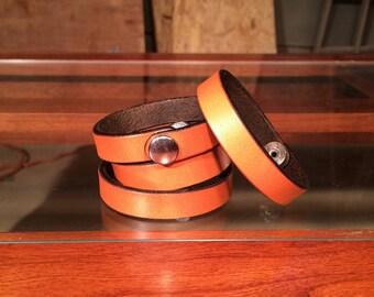 Tan English Bridle Bracelet
