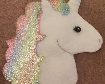 Girls room or nursery decoration - Rainbow Unicorn Personalised Garland.