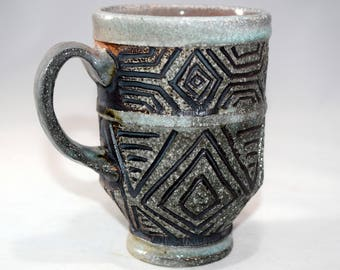 Hand Carved Coffee Cup