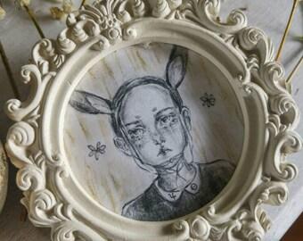 Bunny Girl - framed original