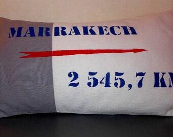 Cover cushion 50 x 28 cm. Marrakech from Paris, France