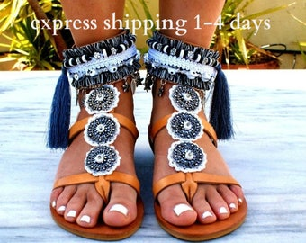 20% OFF BOHEMIAN RHAPSODY sandals/  boho sandals/ leather sandals/ ankle cuff sandals/ gladiator sandals/ ethnic sandals/ hippie sandals
