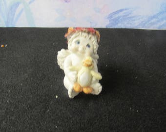 Vintage 1996 Dreamsicles by Kristin  10012 Just Ducky  Cherub Angel Holding  Duckling  2685