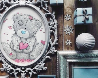 TEDDY BEAR Cross stitch pattern, Instant PDF download