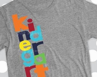 kindergarten svg, kindergarten shirt, teacher svg,,boys kindergarten, svg, iron on, printable, first day of school, DXF, EPS, svg, boys shir