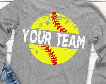 Softball SVG, Distressed Softball, softball shirt, vintage svg, svg, dxf, png, eps, Softball Mom, Download, transfer, distressed svg