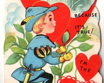 Vintage It's No Fairytale Die-Cut Children's Classroom Valentine's Day Card