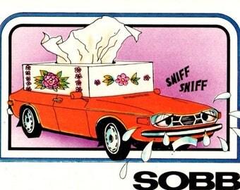 1976 Wonderbread Crazy Cars Sobb Saab Trading Card