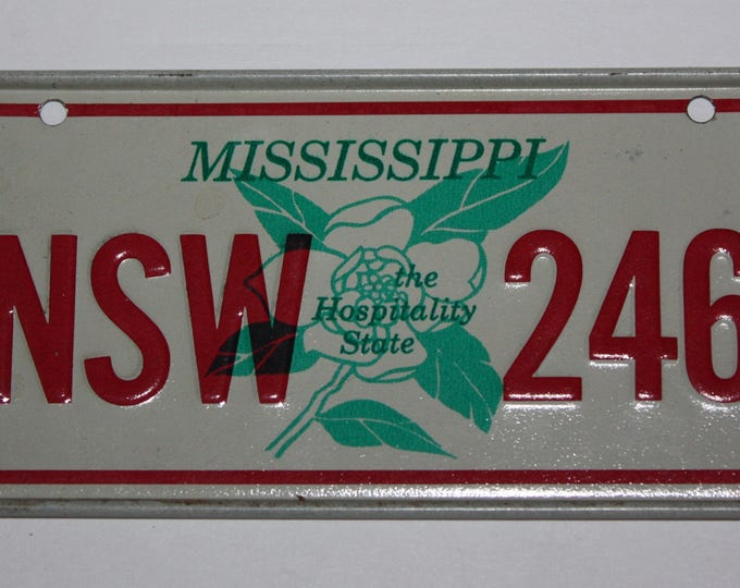 1970's Mississippi the Hospitality State Wheaties Post Cereal Premium Bike Mini Metal License Plate