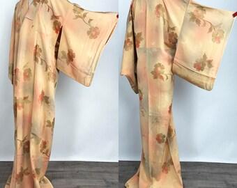 """Japanese K111306 """"Bokasi-zome"""" Komon Kimono Vintage"""
