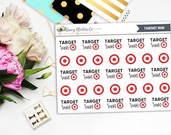 Target Run Planner Stickers