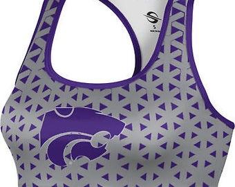 ProSphere Women's Kansas State University Geometric Sports Bra (KSU)