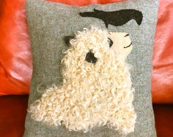Sheep & Crow Pillow
