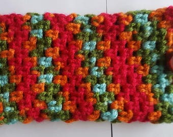 "Crochet Multicolor cellphone bag,  3 1/2"" X 6 1/2"""