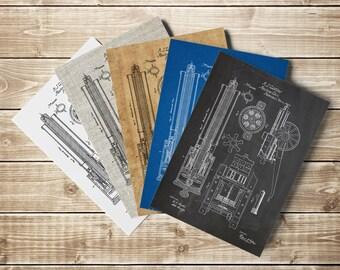 Gatling Gun, Machine Gun, Gun Printable, Civil War Poster, Gun Blueprint, Gun Wall Decor, Gun Lover Gift, Civil War Decor, INSTANT DOWNLOAD
