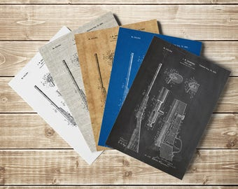 Rifle Patent Poster, Rifle Poster, Rifle Patent Print, Hunting Nursery, Browning Gun, Browning Poster, Browning Art Print, INSTANT DOWNLOAD