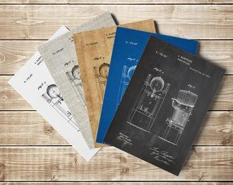 Beer Refrigerator, Beer Keg, Beer Keg Printable, Beer Poster,Beer Patent,Beer Cooler Art,Brewing Printable,Beer Art Poster, INSTANT DOWNLOAD