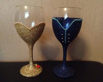 Beauty and the Beast,  Belle & Beast Glitter Glasses