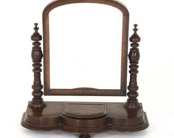 Antique Dressing Mirror, Vanity Mirror, Mahogany Mirror, Scotland, 1880, B916