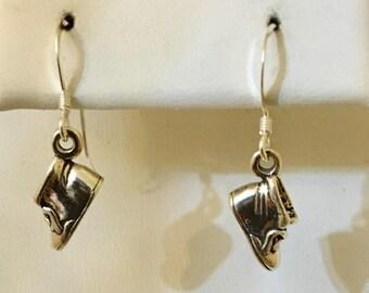 Sterling Silver Baby Shoe Earrings
