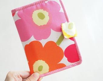 Unikko Marimekko fabric Passport Holder / wallet