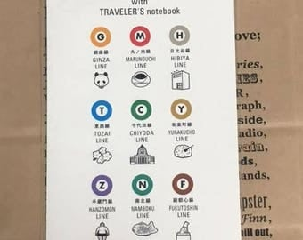 Tokyo Metro x Traveler's Notebook Clear holder Regular size 07100521 metro trip Midori Limited Designphil TRAVELER'S COMPANY Made in Japan
