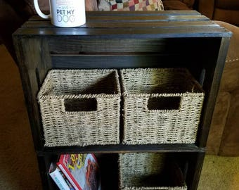 Crate Side Table/Night stand