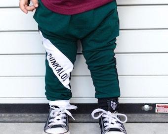 Trendy Harem Pants | Shredded Toddler Pants | Punk Rock Baby | Little Boy Leggings | Punky Kids Clothes | Black Harem Baby Girl - Baby Boy