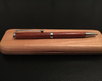 Bloodwood twist slimline pen.