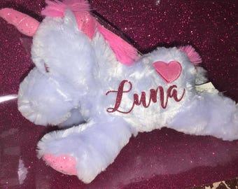 Personalized Unicorn Plush