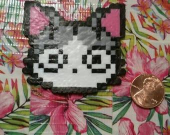 Mini perler beads cat~