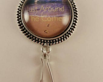 "JW Convention Magnetic Badge Card Holder ""Just Around The Corner"""