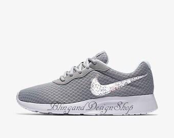 Swarovski Bling Nike Tanjun Women's Shoes Customized with Crystal Swarovski Rhinestones