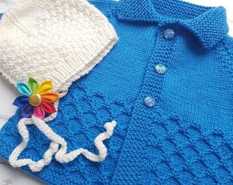 Little Cardigan - Size 0 - Hand Knitted - Merino Wool