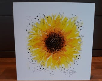 Sunflower greetings card // sunflower card // sunflower birthday card // sunflower gifts // sunflower art // sunflower painting