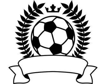 Soccer Logo #2 Banner Wreath Crown Goal Futball Field Sports Game School .SVG .EPS .PNG Digital Clipart Vector Cricut Cut Cutting Download
