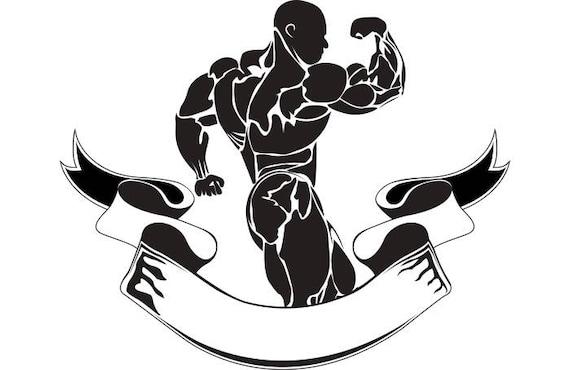 Bodybuilding Logo #11 Bodybuilder Banner Flexing