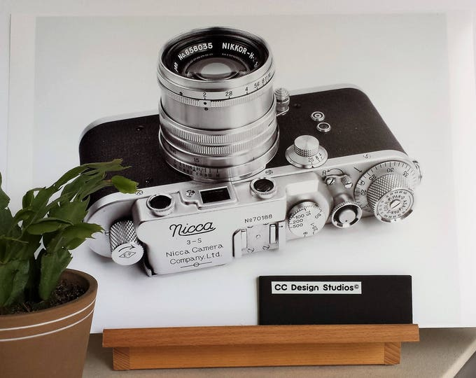1950s Nicca Film Camera Fine Art Print - 13 x 19 in  - Unframed - Printed on Pro Quality Canon Semi-gloss Paper w/ Archival Inks - Ltd Ed