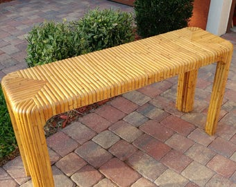 Vintage Bamboo Console | Palm Beach Style