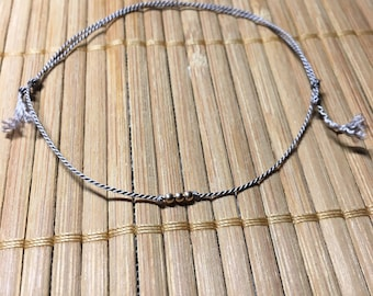 Simple GREY bracelet with beads