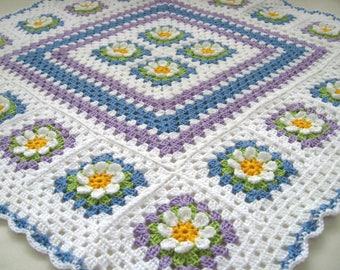 Made To Order Baby Blanket/ Granny Square Blanket/ Baby Blanket
